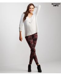 Aéropostale | Natural Long Sleeve Metallic Knit Top | Lyst