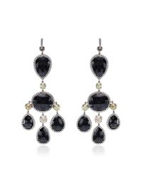Nina Runsdorf | Metallic One Of A Kind Black Diamond Chandelier Earrings | Lyst