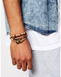ASOS   Brown Leather Bracelet Pack for Men   Lyst