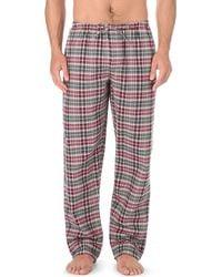 Zimmerli | Red Cotton-flannel Pyjama Bottoms for Men | Lyst