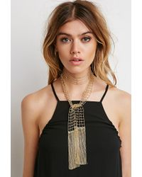 Forever 21 - Metallic Ball Chain Wrap Necklace - Lyst