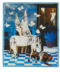 Maia Franceschi - Blue Angel Horse Silk Scarf - Lyst