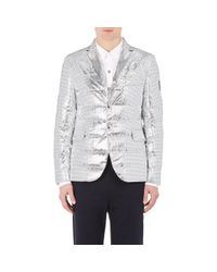 Moncler Gamme Bleu | Metallic Men's Perforated Down Sportcoat for Men | Lyst