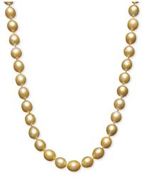 "Macy's | Multicolor Pearl Necklace, 18"" 14k Gold Cultured Golden South Sea Pearl Strand 