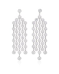 Nina Runsdorf | Metallic Platinum Diamond Earrings | Lyst