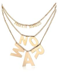 Frankie Morello | Metallic No War Necklace | Lyst