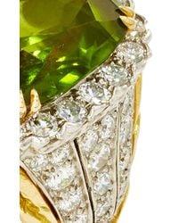 David Webb - Green Peridot Ring - Lyst