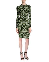 Givenchy - Multicolor Long-sleeve Jaguar-print T-shirt Dress - Lyst