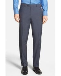 Ted Baker | Blue 'jefferson' Flat Front Wool Trousers for Men | Lyst