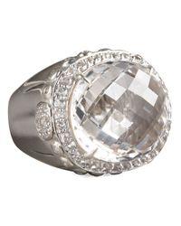John Hardy | Metallic Bamboo White Topaz Dome Ring for Men | Lyst