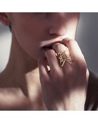 Ralph Masri - Metallic Arabesque Yellow Diamond Ring - Lyst