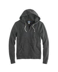 J.Crew - Black Brushed Fleece Zip Hoodie for Men - Lyst