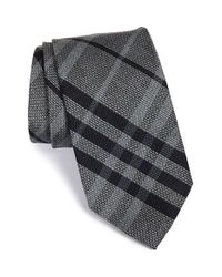 Burberry - Gray 'clinton' Woven Silk Tie for Men - Lyst