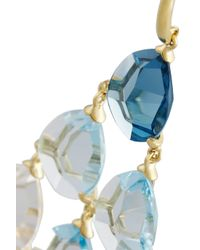 Ippolita - Blue Gemma Cascade 18-Karat Gold, Quartz And Topaz Earrings - Lyst