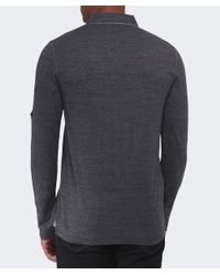 BOSS Orange | Black Patcherman Long Sleeved Polo Shirt for Men | Lyst