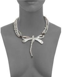 Uno De 50 | Metallic Dragon Fly Beaded Statement Necklace for Men | Lyst