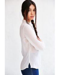 BDG - White Karina Button-down Shirt - Lyst