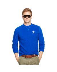 Ralph Lauren - Blue Fleece Shoulder-zip Pullover for Men - Lyst
