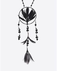 Valentino   Black Dream Catcher Necklace   Lyst