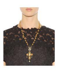 Dolce & Gabbana - Metallic Embellished Necklace - Lyst