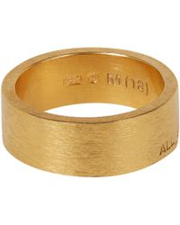 All_blues | Metallic Gold-Plated Band Ring for Men | Lyst