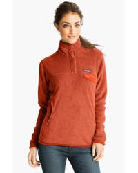 Patagonia - Orange 're-tool' Snap Pullover - Lyst