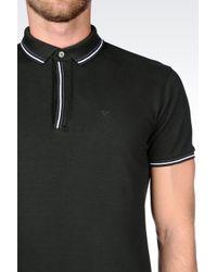 Emporio Armani | Green T-shirt In Cotton Pique for Men | Lyst