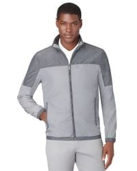 Calvin Klein | Gray Mix Media Nylon Windbreaker for Men | Lyst