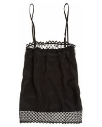 Mimi Holliday by Damaris | Black Knickerbocker Glory Tulle-Trimmed Silk Camisole | Lyst
