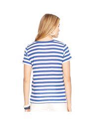 Polo Ralph Lauren - Blue Striped Cotton Jersey Tee - Lyst