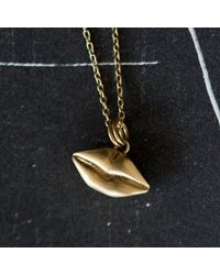 Kelly Wearstler | Metallic Mini Kiss Necklace | Lyst