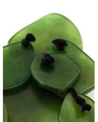 Monies | Green Resin Stone Earrings | Lyst