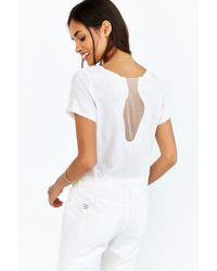 Kimchi Blue | Natural Delicate Mesh-inset Top | Lyst