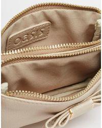 Oasis - Metallic Bow Detail Coin Purse - Lyst