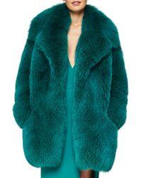Cushnie et Ochs - Green Full Fox Fur Coat - Lyst