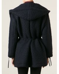 Hache - Blue Wrap Around Felted Coat - Lyst