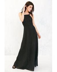 Kimchi Blue - Black Apron Neck Embroidered Maxi Dress - Lyst
