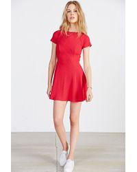 BDG | Red Jackie Flare Tee Dress | Lyst