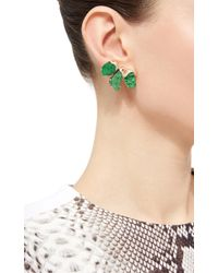 Kara Ross - Green Mosaic Raw Blue Topaz Earrings - Lyst