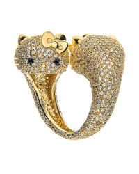 Noir Jewelry | Metallic Two Faced Hello Kitty Ring | Lyst