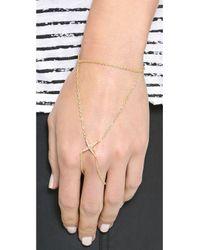 Elizabeth and James - Metallic Kara Hand Bracelet Yellow Gold - Lyst