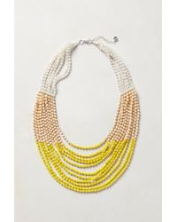 Anthropologie | Yellow Luang Beaded Necklace | Lyst