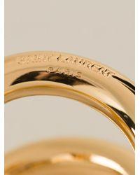 Saint Laurent | Metallic Double Ring | Lyst