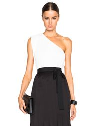 TOME | White Fwrd Exclusive Pleated One Shoulder Top | Lyst