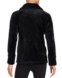 Calvin Klein | Black Fleece Zip-up Jacket | Lyst