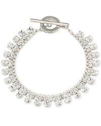 Carolee | Metallic Silver-tone Crystal Bracelet | Lyst
