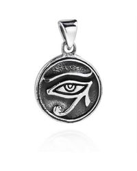 Aeravida | Metallic Circle Eye Of Horus Egyptian Symbol .925 Silver Pendant | Lyst
