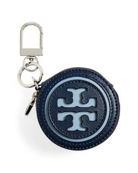 Tory Burch | Blue Key Chain Coin Pouch | Lyst