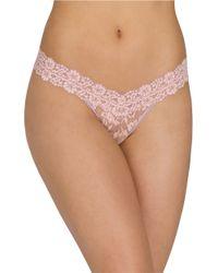 Hanky Panky | Pink Cross Dye Low Rise Thong | Lyst