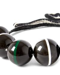 Marni - Black Sphere Horn Necklace - Lyst